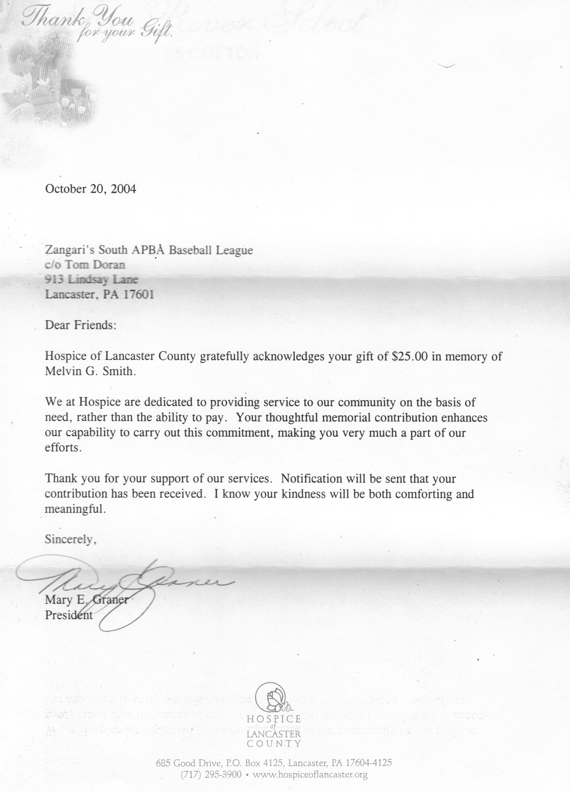 zangari s south apba baseball league schedule proposal 1996 · expansion committee 1 6 97 · honorable mention 3 30 99 · thanks 8 1 99 · job offer 5 10 01